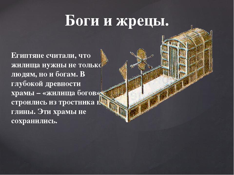 Египтяне считали, что жилища нужны не только людям, но и богам. В глубокой др...