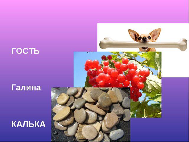 ГОСТЬ Галина КАЛЬКА