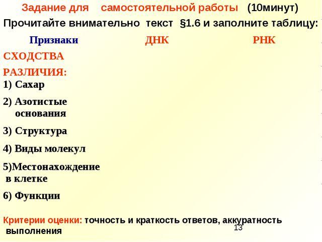 Задание для самостоятельной работы (10минут) Прочитайте внимательно текст §1....