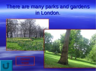 There are many parks and gardens in London. Green Park