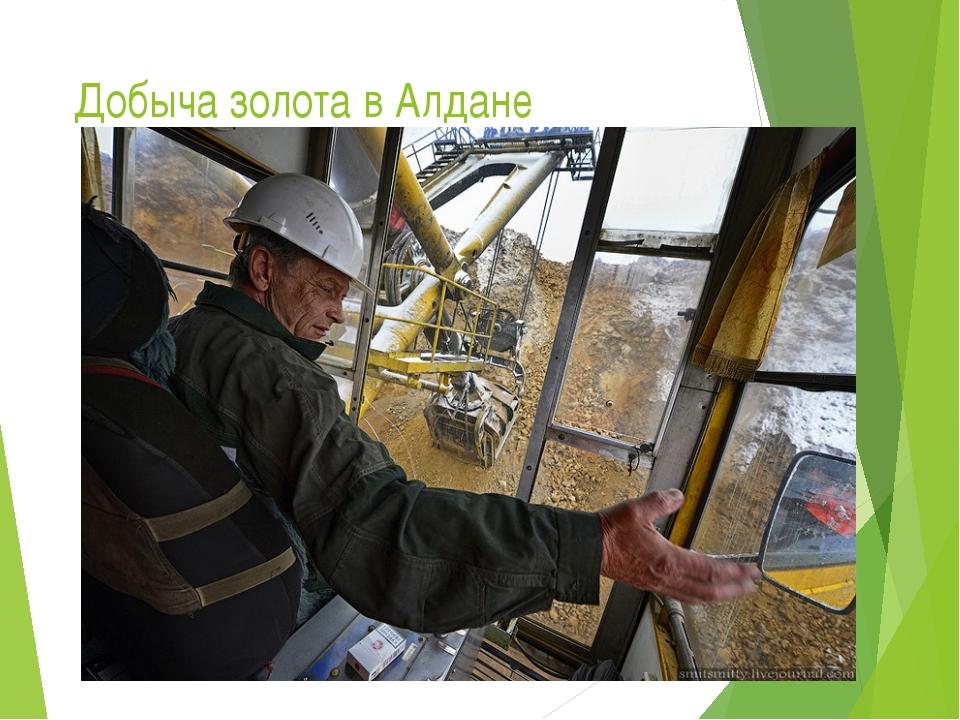 Добыча золота в Алдане