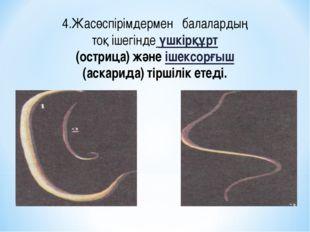 4.Жасөспірімдермен балалардың тоқ ішегінде үшкірқұрт (острица) және ішексорғы