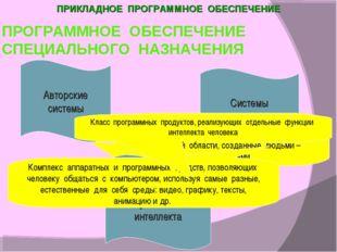 Системы мультимедиа Специальные программы системы целевого назначения для спе