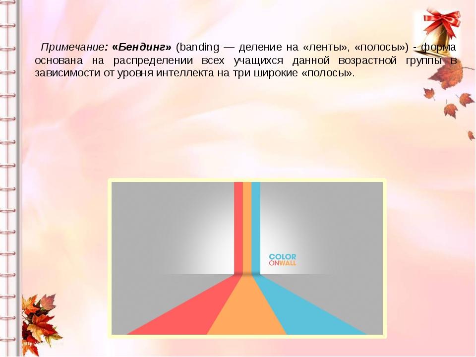 Примечание: «Бендинг» (banding — деление на «ленты», «полосы») - форма основ...