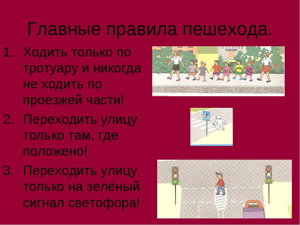 Главные правила пешехода. Ходить только по тротуару и никогда не ходить по пр...