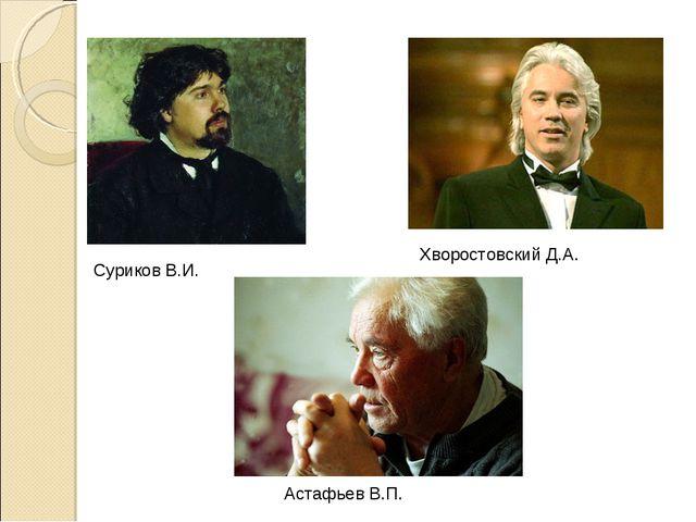 Суриков В.И. Хворостовский Д.А. Астафьев В.П.