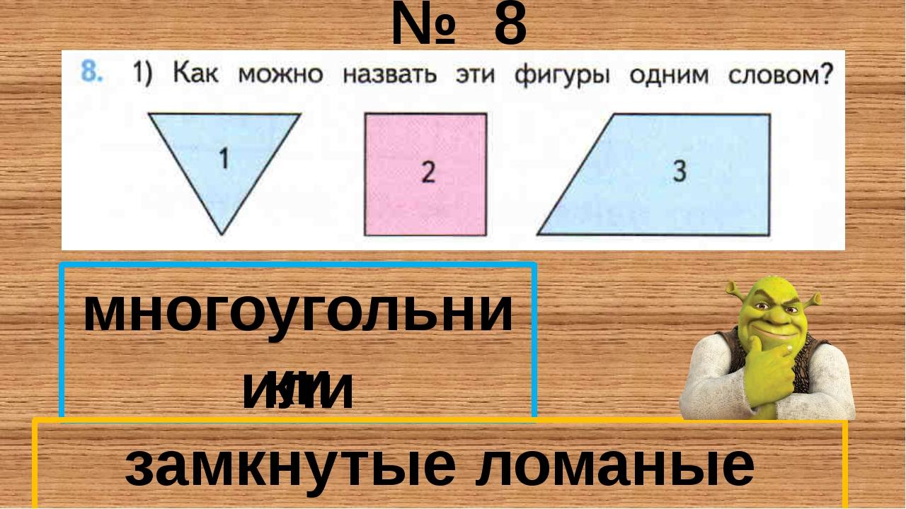 № 8 многоугольники замкнутые ломаные линии или