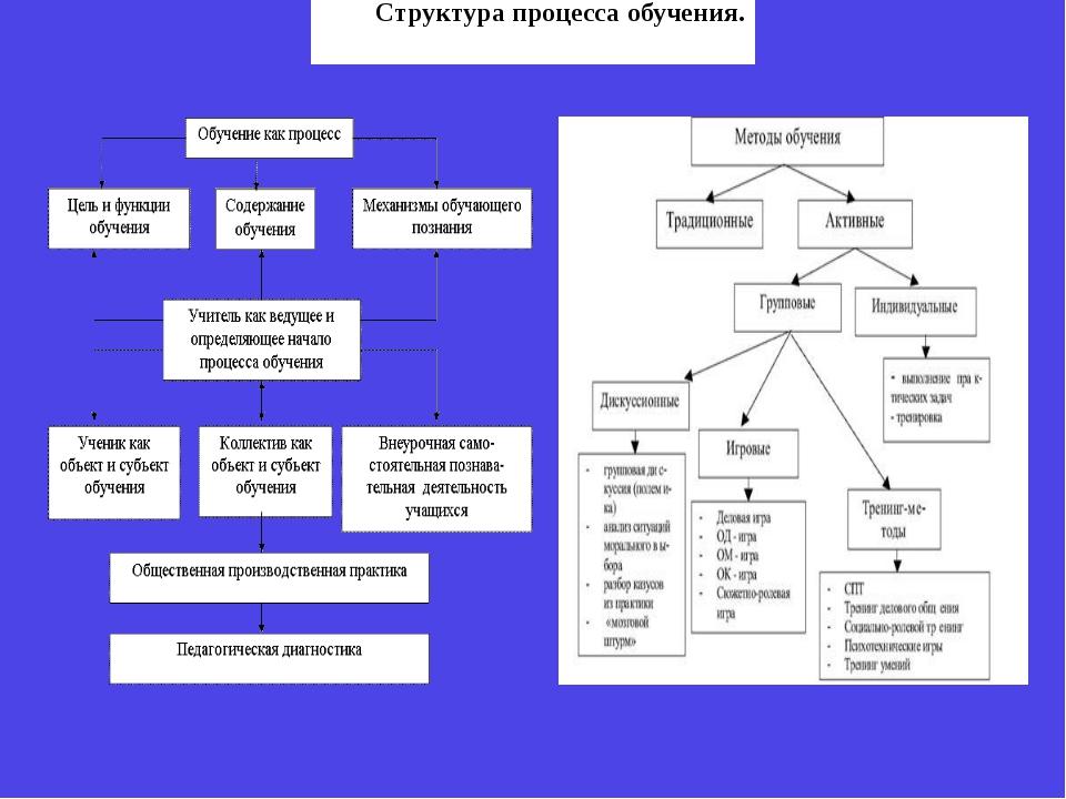 Структура процесса обучения.
