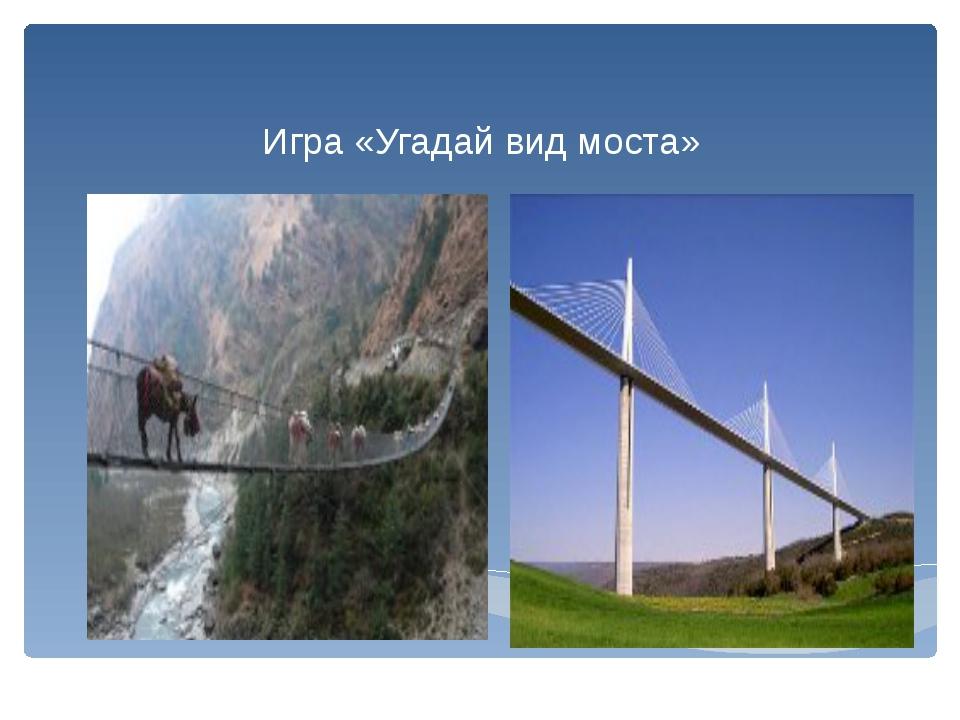 Игра «Угадай вид моста»
