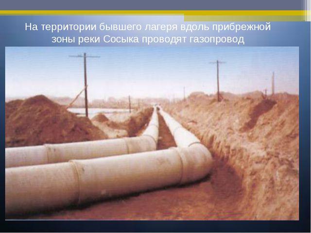 На территории бывшего лагеря вдоль прибрежной зоны реки Сосыка проводят газоп...