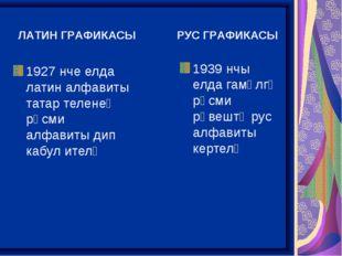 1927 нче елда латин алфавиты татар теленең рәсми алфавиты дип кабул ителә 19