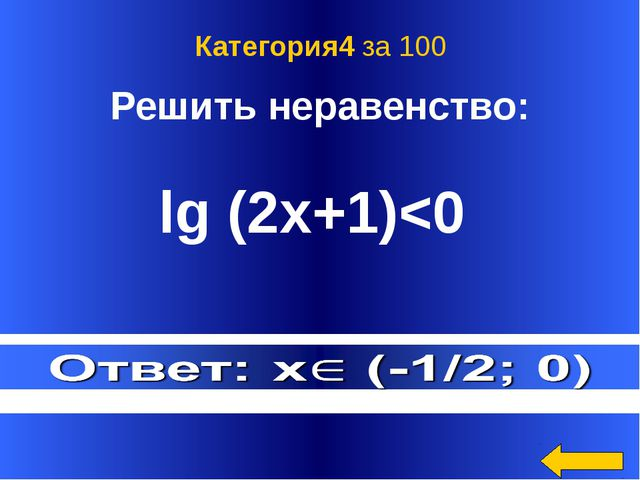 Ответ: (5/3;23) Категория4 за 200 Welcome to Power Jeopardy © Don Link, India...