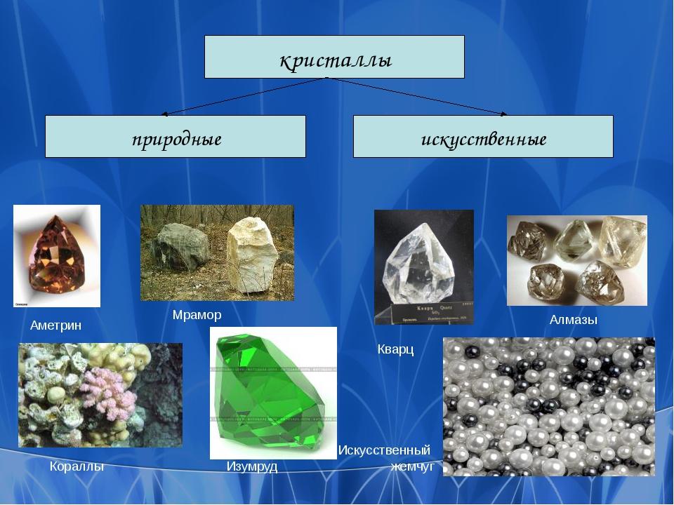 кристаллы искусственные природные Кораллы Аметрин Искусственный жемчуг Алмазы...