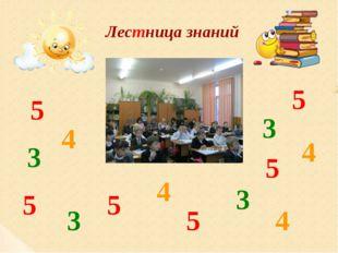 Лестница знаний 5 5 5 5 5 5 4 4 4 4 3 3 3 3
