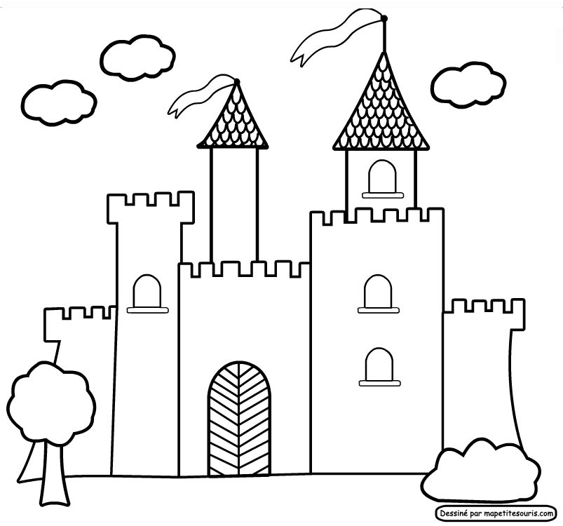 Картинки замки для срисовки, медузой для детей