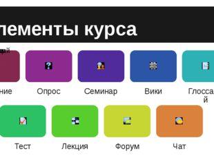 Элементы курса Задание Учебный элемент «Задание» позволяет преподавателям доб