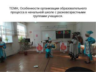 ТЕМА; Особенности организации образовательного процесса в начальной школе с р