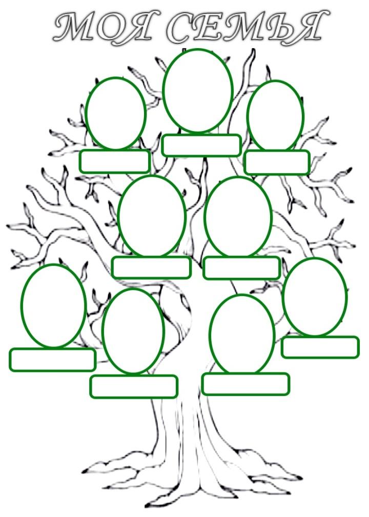 Семейное древо раскраска распечатать