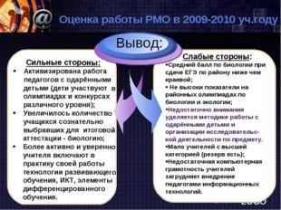www.themegallery.com Оценка работы РМО в 2009-2010 уч.году Сильные стороны: А