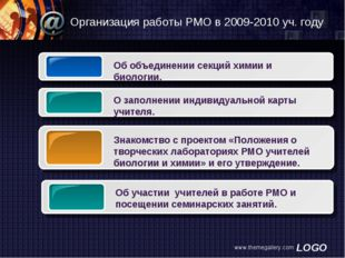 www.themegallery.com Организация работы РМО в 2009-2010 уч. году www.themegal
