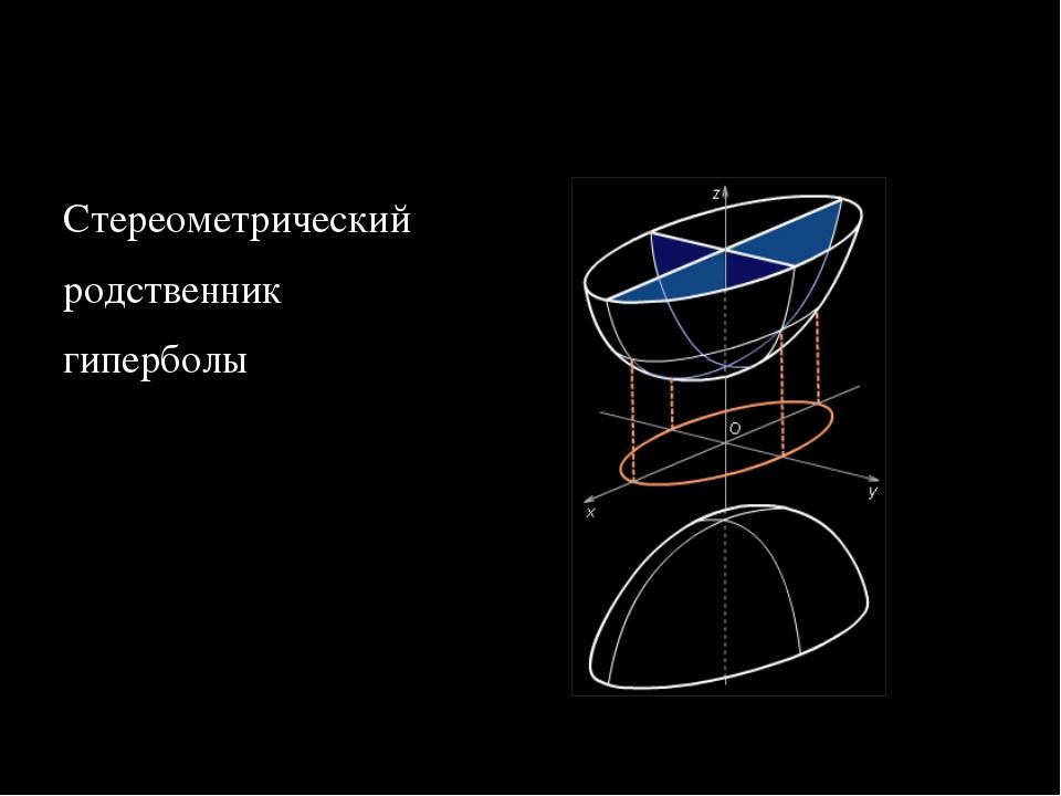 Двуполостный гиперболоид Стереометрический родственник гиперболы