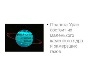 Планета Уран состоит их маленького каменного ядра и замерзших газов
