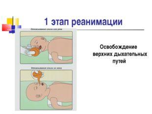 1 этап реанимации Освобождение верхних дыхательных путей