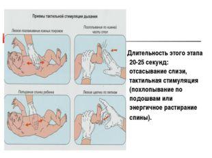 Длительность этого этапа 20-25 секунд: отсасывание слизи, тактильная стимуля