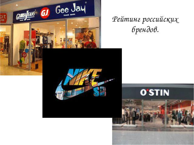 Рейтинг российских брендов.