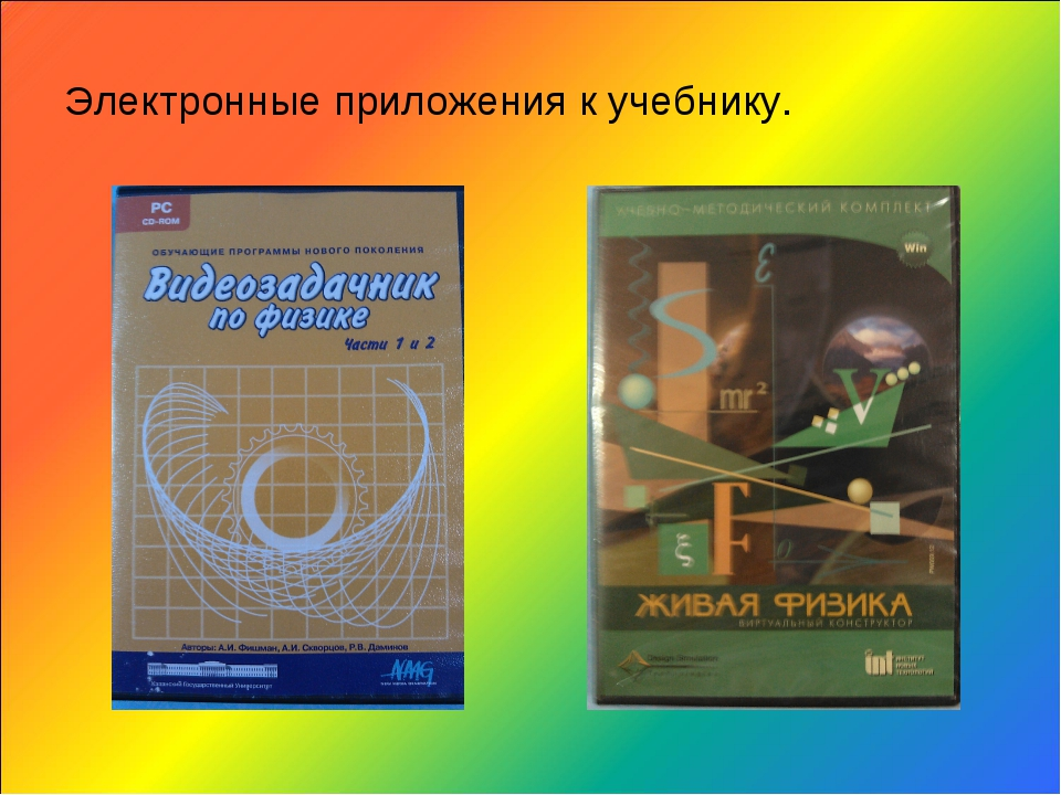 Электронные приложения к учебнику.