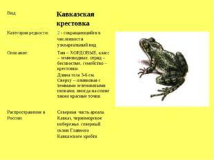 Вид: Кавказская крестовка Категория редкости:2 - сокращающийся в численнос