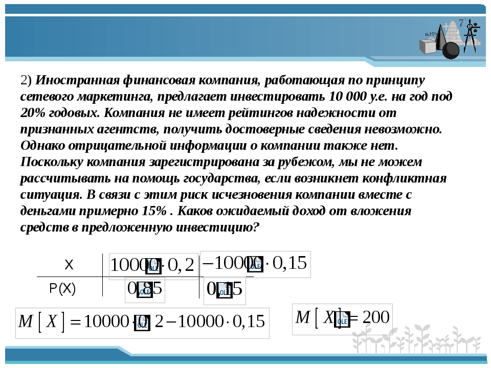 2) Иностранная финансовая компания, работающая по принципу сетевого маркетинг...