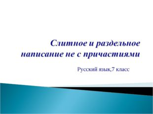 Русский язык,7 класс