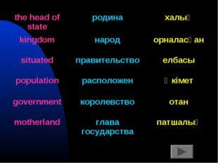 the head of stateродинахалық kingdomнародорналасқан situatedправительств