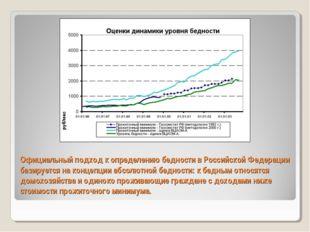 Официальный подход к определению бедности в Российской Федерации базируется н