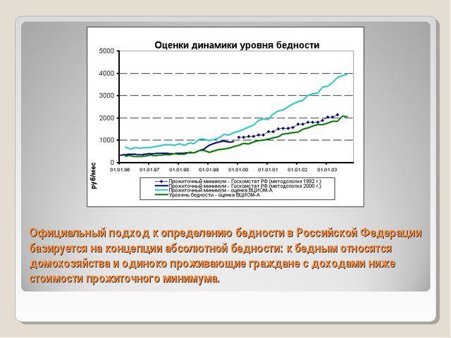 Официальный подход к определению бедности в Российской Федерации базируется н...