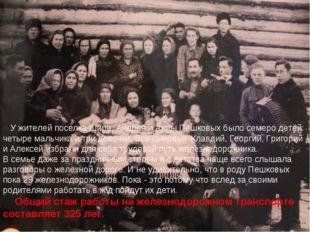 У жителей поселка Шира, Андрея и Анны Пешковых было семеро детей: четыре ма