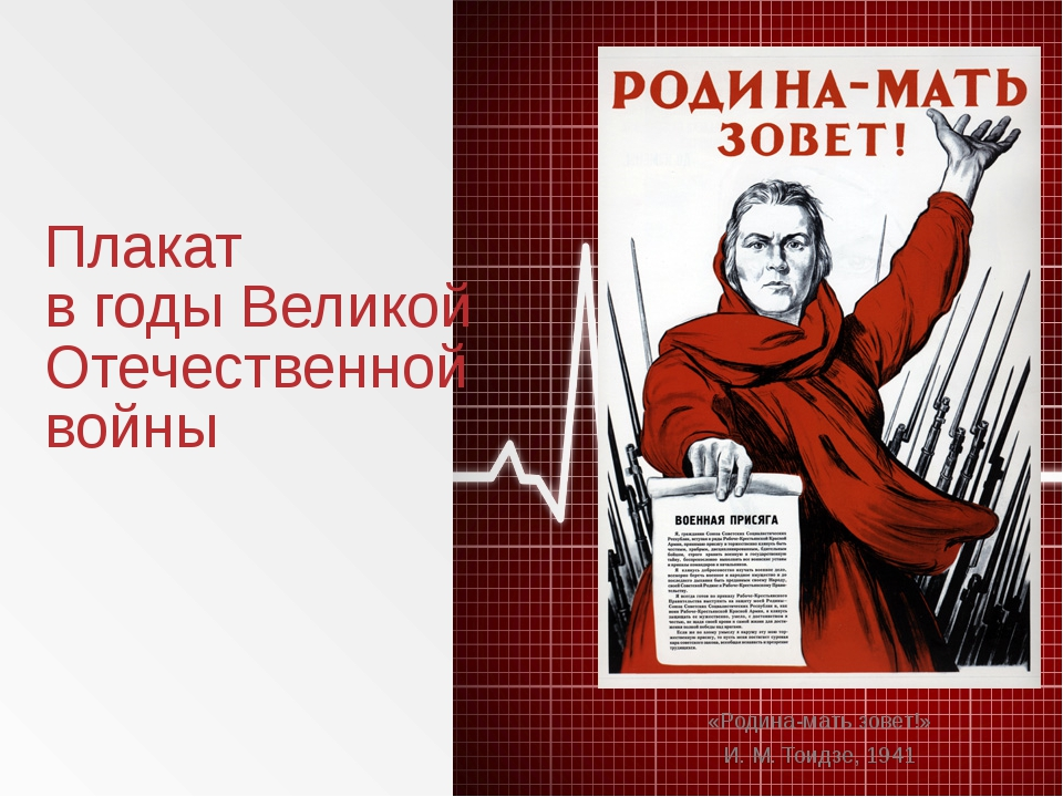 Плакат в годы Великой Отечественной войны «Родина-мать зовет!» И.М.Тоидзе,...