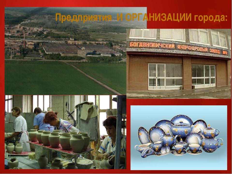 Предприятия И ОРГАНИЗАЦИИ города: