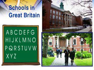 Schools in Great Britain