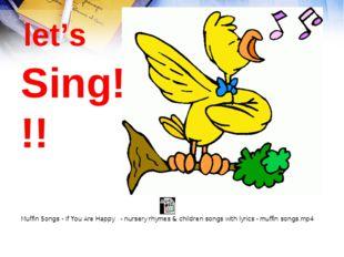 Sing!!! let's