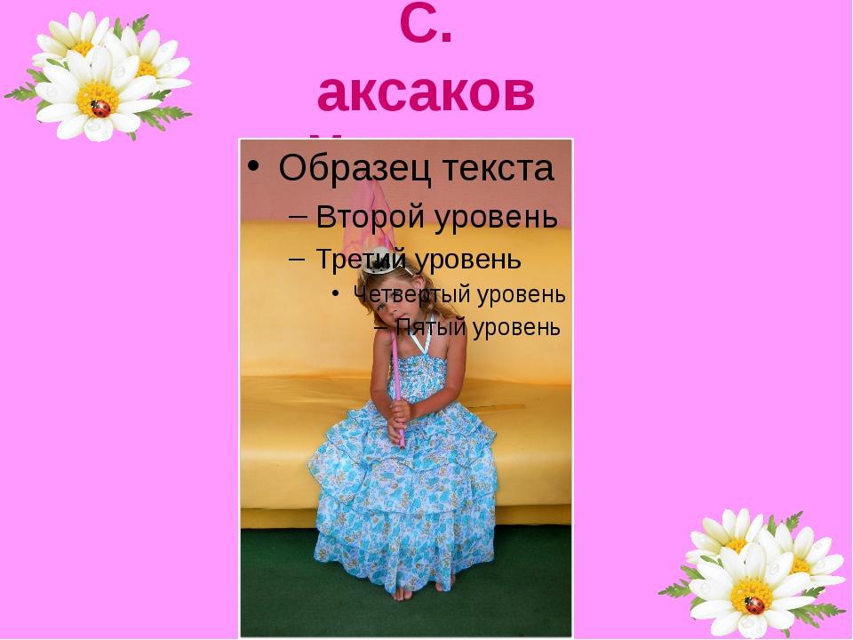 С. аксаков Моя сестра
