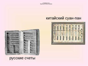2. Развитие счета Прародители счетных приборов русские счеты китайский суан-