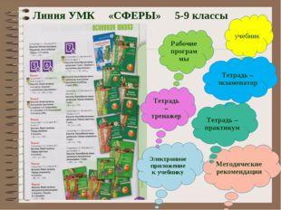 Линия УМК «СФЕРЫ» 5-9 классы Рабочие программы учебник Тетрадь – тренажер Тет
