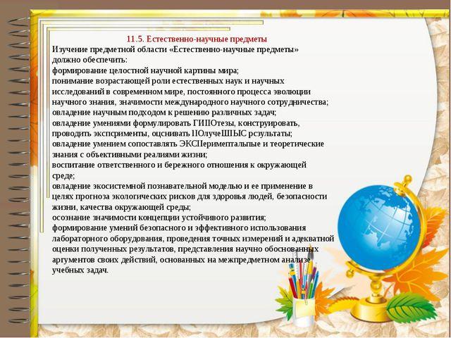 11.5. Естественно-научные предметы Изучение предметной области «Естественно-н...