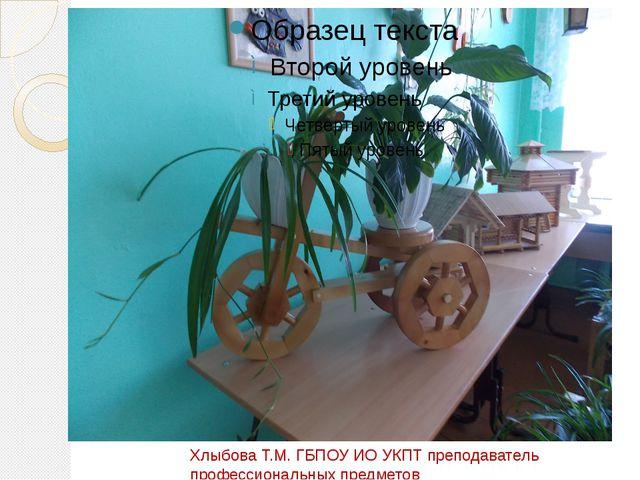Хлыбова Т.М. ГБПОУ ИО УКПТ преподаватель профессиональных предметов