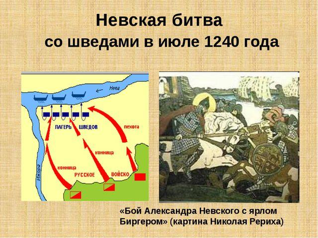 Невская битва со шведами в июле 1240 года «Бой Александра Невского с ярлом Би...