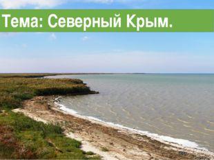 Тема: Северный Крым.