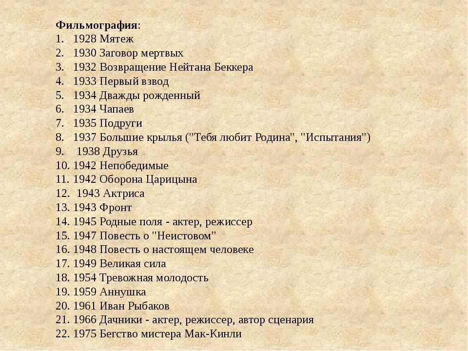 Фильмография: 1928 Мятеж 1930 Заговор мертвых 1932 Возвращение Нейтана Беккер...