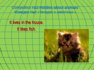 Competition №2 Riddles about animals Конкурс №2 «Загадки о животных.» It live